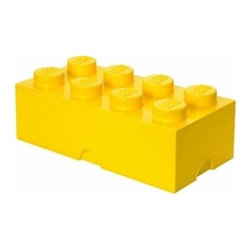 LEGO - LEGO Storage Brick 8, Bright Yellow - Our Lego Storage Brick 8 in bright yellow isn't simply a container  it's a giant Lego brick that can be used to build oversized creations. Lift off the top to reveal storage space for small toys, regular bricks and building accessories based on your space and needs.