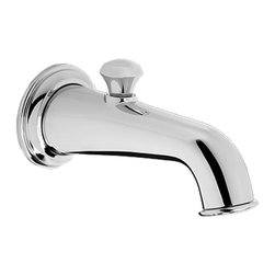 "Toto - Toto TS220EV#CP Vivian Diverter Wall Spout - Toto's TS220EV#CP is a Vivian Diverter Wall Spout from the Vivian series, and it comes with a beautiful Polished Chrome finish. This wall-spout comes with an integrated diverter, a laminar flow, a brass construction, and a 1/2"" NPT connection."
