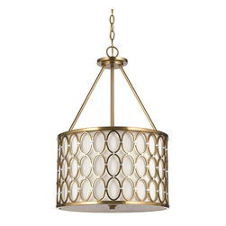 "Candice Olson - Candice Olson Cosmo Transitional Pendant Light X-H3-3018 - This beautiful modern pendant light by AF Lighting draws on the classic style of the '60s era. The satin brass finish gives the handcrafted rings a brilliant color and shine, and silver finished cusps add visual interest. Due to hand-crafting no two are alike. 3-poles 13"" and 10' chain included."