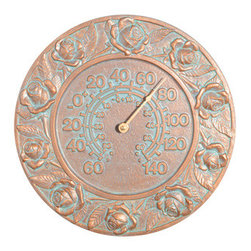 Whitehall Products LLC - Rose Thermometer - Copper Verdi - Features: