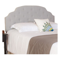 Great Deal Furniture - Canton Queen/Full Headboard, Grey Fabric - The Canton headboard is a great piece to add elegance to your bedroom. You can spruce up the look of any queen or full metal frame bed with this headboard.