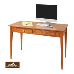 Large Shaker Desk by Manchester Wood - Our Large Shaker Desk is the perfect piece of furniture for a office or home workspace. It also has plenty of room to spread out your plans on this beautifully handcrafted solid wood desk. It also features two large drawers for storage.
