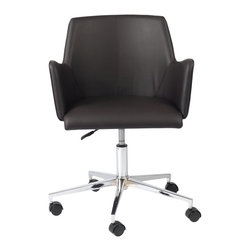 Euro Style - Euro Style Sunny Office Chair X-NRB22671 - Sunny indeed.  This is a chair with a surprising amount of dignity and style.  It's authoritative without being pushy.  However, when it's time for a break, you can push it right over to the window and do some weekend daydreaming.