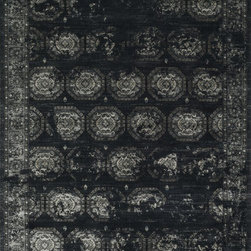 """Loloi Rugs - Loloi Rugs Journey Collection - Black / Charcoal, 9'-2"""" x 12'-2"""" - Inspired by the success of our top selling Nyla Collection, the Journey Collection looks just as elegant, but offers more modern appeal. It's also extremely versatile, looking just as flattering in a contemporary loft as it does in a traditional setting. And because Journey is power loomed in Egypt of 50% wool and 50% viscose, you get the best of softness and sheen."""