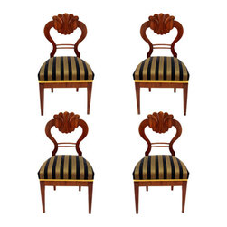 Consigned Set of 4 Biedermeier Chairs - Consigned set of 4 Biedermeier Chairs, Southern Germany 1820.