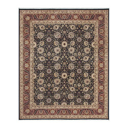 """Pasargad - Pasargad Tabriz Collection Traditional Hand-Knotted Oriental Wool Area Rug- 8X10 - """"The brand Pasargad is the perfect blend of class and elegance. These rugs bring traditional sophistication to your home. These rugs feature 100% Premium Wool, hand-knotted into elegant designs, perfect for your traditional decor. The varying pile heights will add a spark of interest to these rugs. Each rug has a dense, soft pile and excellent quality, to ensure that you will enjoy the look and feel of your rug for years to come."""""""