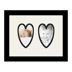 ArtToFrames - ArtToFrames Collage Photo Frame  with 2 - 4x6 Openings - This classic Satin Black, 1.25 inch thick collage frame, presents an arrangement for 2 - 4x6 masterpieces of your choice. This collage is part of a selection collage frame group and boasts a sweeping line of premium quality frames at a price you can gloat about! Built from hand and created to showcase your masterpieces ensuring you 2 - 4x6 art will fit right in. Bordered in a striking Satin Black, sophisticated frame and surrounded by a clean Super White mat, the collage arrangement certainly presents your very own photographs, and best memories in an entirely interesting and fresh way. This collage frame comes protected in Regular Glass, ready with proper hardware and can be displayed with ease. These superior quality and genuine wood-based collage frames differ in design and size; all in contemporary and modern design. Mats are available in a bevy of color tones, openings, and shapes. It's time to tell your story! Preserving your holding onto your memories in an original and imaginative contemporary way has never been easier.