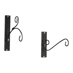 Pier Surplus - Set of Two Metal Candle Lantern Wall Hangers - These elegant metal wall hangers are perfect for hanging small lanterns, hanging baskets and other lightweight home accents indoors or out!