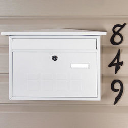 Deco Locking Wall-Mount Mailbox - The raised cubic design on the Deco Locking Wall-Mount Mailbox's front makes it perfect for any home's style. The deep interior box is large enough for all of your mail, and the lockable front access door ensures security.