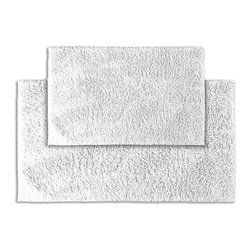 None - Grace Cloud Cotton 2-piece Bath Rug Set - Add a gracious note of comfort to the bath or shower with the Grace Cotton collection of bath runners and rugs. The soft loop pile of these two white rugs is 100-percent cotton and the classic design blends with any decor.