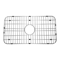 ALFI brand - ALFI ABGR3018 Stainless Steel Protective Grid for AB3018 Kitchen Sink - Protect your investment with this solid stainless steel grid that sits on the bottom of your fireclay sink. Protects the sink from nicks or cracks caused by heavy pots or pans dropped in, reduces the need for cleaning marks or stains of the bottom of the sink.