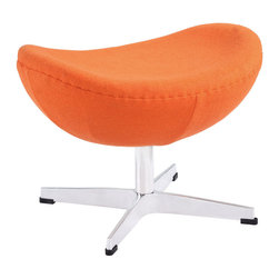 Modway - Modway EEI-265 Glove Ottoman in Orange - Delight in perfect symmetry with the harmonious Glove Ottoman in Wool. Designed with sprawling wing tips and amorphous form, the Glove Ottoman is a study of opposites built from the most exacting design specifications. Layered in upholstered wool over a cozy foam frame, adorn yourself with precision as you embark on a more sophisticated state.