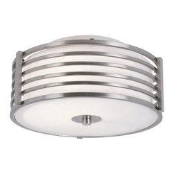 "Trans Globe Lighting - Trans Globe Lighting 10040 2 Light Flushmount Ceiling Fixture from the Pendants - Pendants and Flushmounts Collection 2 Light Flushmount Ceiling FixtureFrom the Pendants and Flushmounts Collection, this flush mount ceiling fixture with frosted glass surrounded by ""gated"" bars adds a decorative touch and ample down lighting.Features:"