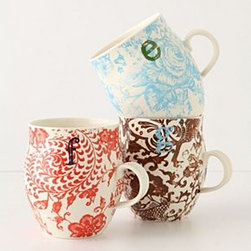 "Anthropologie - Homegrown Monogram Mug - StonewareDishwasher and microwave safe16 oz4""H, 3.75"" diameterImported"