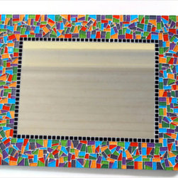 Mosaic Mirrors from Green Street Mosaics - GreenStreet Mosaics - Mosaic mirrors are functional pieces of wall art. Each mirror can be customized in the colors, size, and shape that you are looking for. www.GreenStreetMosaics.com