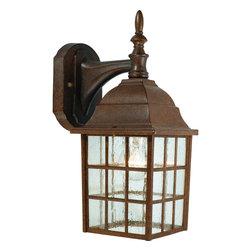Hardware House - Artesian Bronze Outdoor Patio / Porch Exterior Light Fixture - Finish: Artesian Bronze