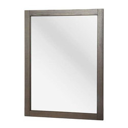 Foremost - Foremost Brentwood 23.5 Inch Mirror in Driftwood Finish - Foremost Brentwood 23.5 Inch Mirror in Driftwood Finish