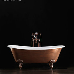 Specialty Bathtubs - The characteristic glossy outer surface on this piece can be painted a variety of colors to fit any decor.  Each bathtub has a sparkling luminosity that makes it unique and extraordinarily evocative.
