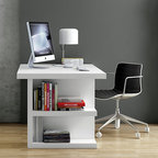 WorkSpace and Home Office | Smart Furniture - The Multi 160 Storage Desk is perfect for keeping organized and chic.