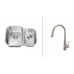 Ruvati - Ruvati RVC2543 Stainless Steel Kitchen Sink and Stainless Steel Faucet Set - Ruvati sink and faucet combos are designed with you in mind. We have packaged one of our premium 16 gauge stainless steel sinks with one of our luxury faucets to give you the perfect combination of form and function.