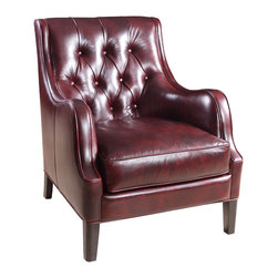 Hooker - Seven Seas Seating Catwalk Claudia Club Chair in Burgundy - Seven Seas Seating specializes in recliners and accent chairs for the living room and office. Chairs are primarily made with rich, soft leather but there's also a nice selection of fabrics and fabric/leather combinations. Each chair or sofa by Seven Seas Seating is hand-crafted by world-class furniture producers working to rigorous standards mandated by Seven Seas.
