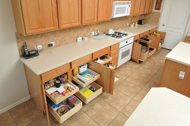 Traditional Kitchen Cabinetry by The Pullout Shelf Company