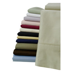Bed Linens - Egyptian cotton Solid 300TC pair of Pillow Cases, Queen/Standard, Lilac - Egyptian cotton Solid 300TC pair of Pillow Cases
