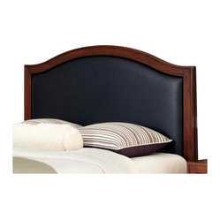 Home Styles - Home Styles Duet Camelback Headboard with Black Leather Inset-King - Home Styles - Headboards - 5545601B - Create distinctive style with this modern Duet Headboard.