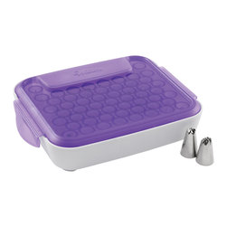 Wilton - Decorate Smart Tip Organizer Case - WILTON-Tip Organizer. Always have a wide selection of decorating tips readily available! This organizer will hold 55 standard sized tips and allows for nesting of up to three tips. A separate compartment holds couplers; flower nails; and oversized tips.