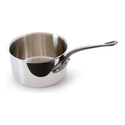 Mauviel - Mauviel M'cook Stainless Steel Saucepan, Cast Iron Handle, 6.4 qt. - 5 ply Construction - High performance cookware, works on all cooking surfaces, including induction.