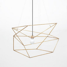 Modern Chandeliers Spica Light, Brass