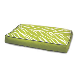 ez living home - Zebra Memory Foam Topper Pillow Bed Lime, Large - *Timeless and classic zebra pattern with a modern touch, complements existing room decoration.