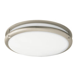 AFX Lighting - AFX Lighting CSC2232NT Nickel Flush Mount - A guiding light. This fixture mounts flush against the ceiling so it keeps a low profile while still casting plenty of light, making it a good choice for your bath, hallway or foyer.