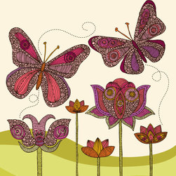 Murals Your Way - Butterflies (Ramos) Wall Art - Painted by Valentina Ramos, Butterflies (Ramos) wall mural from Murals Your Way will add a distinctive touch to any room