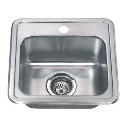"""Wells Sinkware - Wells Sinkware Topmount Bar Sink Pack, Stainless Steel, Sink Only - 18 gauge topmount, Type 304 Premium stainless steel, Scratch resistant matte finish, Mirror highlighted rim, Heavy duty sound absorbent coating & padding, Intelli-Pressed seamless one-piece construction, Drain openings: 3 1/2"""", Drain placement: Offset towards back, Mounting hardware included, Faucet hole on Right, Limited lifetime warranty, Complies with ASMEA 112.19.3-2008/CSA B45.4-08"""