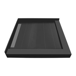 Tileredi - TileRedi WF4236LDR-PVC 42x36 Double Curb Pan L Trench - TileRedi WF4236LDR-PVC 42 inch D x 36 inch W, fully Integrated Left PVC WonderFall with Right Dual Curb