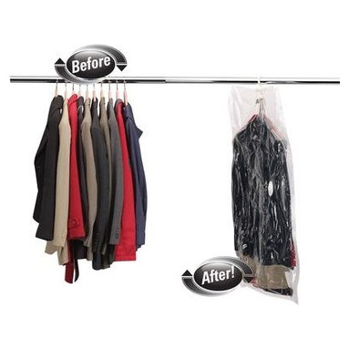 Household Essentials - MightyStor Suit Hanging Bag, Large 1-piece, Clear - Our MightyStor Vacuum Bags is the safe way to compactly store and protect your favorite things, creating instant space in your closet, wardrobe, or on the go. What remains is protected, compacted hanging storage that gives space and peace of mind.