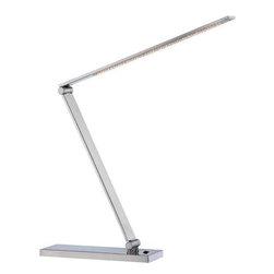 Joshua Marshal - Steel Sloane Ii Adjustable Led Desk Lamp - Finish: Polished Steel