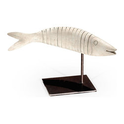 Jonathan Charles - Jonathan Charles Fish Painted Off-White - Product Details