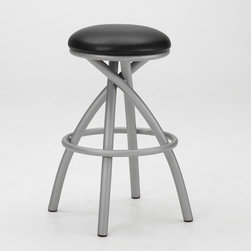 "Tempo - Apollo 30"" Backless Swivel Bar Stool - Tempo was founded in 1970 and is recognized today as the fashion leader for casual dining, pub tables and barstools. The companys product line features contemporary, transitional and traditional styling. Tempo is recognized for its commitment to quality, comfort, and a broad assortment of custom choices that feature high performance fabrics, durable non-toxic powder coat finishes, glass and wood tops in a variety of sizes and chairs that feature stationary seating, swivel and tilt swivel designs. Thank you for selecting Tempo to become part of your home décor. Features:  -30"" Backless Swivel Bar stool. -Customize the Apollo bar stool to suit your needs. -Over 50 fabric options and 18 finishes to choose from. -Constructed for commercial or residential use. -16 Gauge steel. -Some assembly required. -Seat height: 30"". All Tempo Metal stools utilize a commercial grade 16 guage stainless steel. These are the most durable stools in the industry. TEMPO INDUSTRIES, INC. warrants its iron metal product construction to be free from defects in workmanship and materials for the life of the product. Fabric coverings and moving parts are not covered by this warranty."