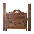 EuroLux Home - 1880 French Antique Bed Brittany Style - Product Details