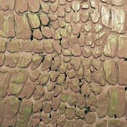 "Raised Plaster Crocodile Texture Stencil - Single Stencil 16"" x 8"" Repeatable. Perfect for intense cabinets and walls"