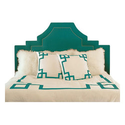 Jill Sorensen Lifestyle - Turquoise Key Duvet Cover, Queen - Modern, fun & chic!  This luxurious bedding collection adds stylish graphics to any bedroom.