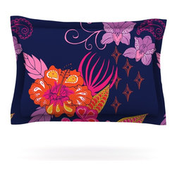 """Kess InHouse - Anneline Sophia """"Tropical Paradise"""" Purple Floral Pillow Sham (Cotton, 30"""" x 20"""" - Pairing your already chic duvet cover with playful pillow shams is the perfect way to tie your bedroom together. There are endless possibilities to feed your artistic palette with these imaginative pillow shams. It will looks so elegant you won't want ruin the masterpiece you have created when you go to bed. Not only are these pillow shams nice to look at they are also made from a high quality cotton blend. They are so soft that they will elevate your sleep up to level that is beyond Cloud 9. We always print our goods with the highest quality printing process in order to maintain the integrity of the art that you are adeptly displaying. This means that you won't have to worry about your art fading or your sham loosing it's freshness."""