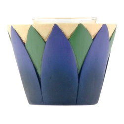 Summit - Blue Green and Yellow Lotus Votive Display Candle Holder Burner - This gorgeous Blue Green and Yellow Lotus Votive Display Candle Holder Burner has the finest details and highest quality you will find anywhere! Blue Green and Yellow Lotus Votive Display Candle Holder Burner is truly remarkable.
