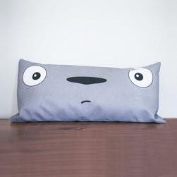 Totoro Lumbar Pillow - Polyfill - Hello, Totoro. Greet your neighborhood forest spirit every day with this pillow on your bed or sofa. With his simple and nostalgic charm reminiscent of childhood, you'll have a smile on your face with a Totoro in your home.