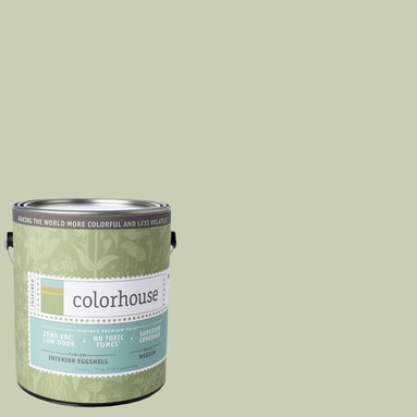 Inspired Eggshell Interior Paint, Glass .02, Gallon - Color house paints are zero VOC, low-odor, Green Wise Gold certified and have superior coverage and durability. Our artist-crafted colors are designed to be easy backdrops for living. Color house paints are 100% acrylic with no VOCs (volatile organic compounds), no toxic fumes/HAPs-free, no reproductive toxins, and no chemical solvents.