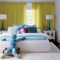 Eclectic  Teen bedroom by Elle Decor