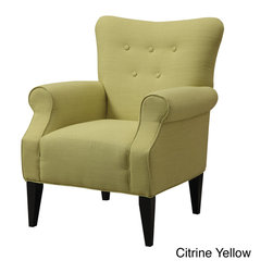 None - Emerald Lydia Accent Chair - The Lydia chair is designed with a classic silhouette featuring a well-tailored,shaped backrest with button accents. This piece is presented with a welted base and arms,foam-encased pocketed coil,sinuous spring support and a hardwood frame.