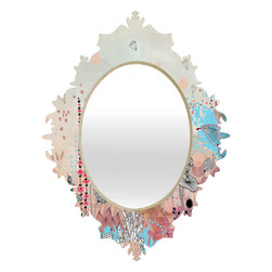 DENY Designs - Iveta Abolina Crystal Lake Baroque Mirror - As we like to say around here, if it ain't baroque, don't hang it! With a sleek mix of baltic birch ply trim that's unique to each piece and a glossy aluminum frame, the baroque mirrors collection bumps your stylish reflection up a notch. Custom made in the USA for every order.